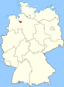 Landkarte_Bremen-221x300 BRD dans Die deutschen Bundesländer (les régions d'Allemagne)